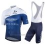 2018 Cycling Jersey One Pro White and Dark Blue Short Sleeve and Salopette