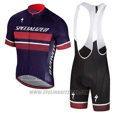 2018 Cycling Jersey Specialized Purple Red Short Sleeve and Bib Short