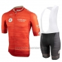 2019 Cycling Jersey Castelli UAE Tour Orange Short Sleeve and Bib Short