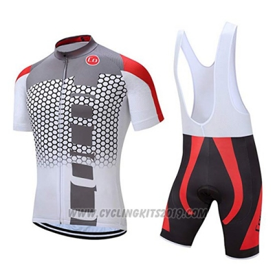 2019 Cycling Jersey Coconut Ropamo Gray Red Short Sleeve and Bib Short