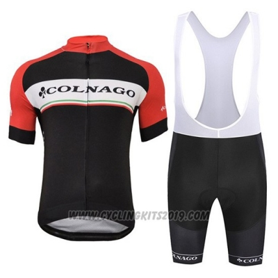 2019 Cycling Jersey Colnago White Black Red Short Sleeve and Bib Short