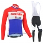 2019 Cycling Jersey Corendon Circus Red White Azul Long Sleeve and Bib Tight