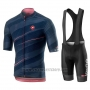 2019 Cycling Jersey Giro D'italy Dark Blue Short Sleeve and Bib Short