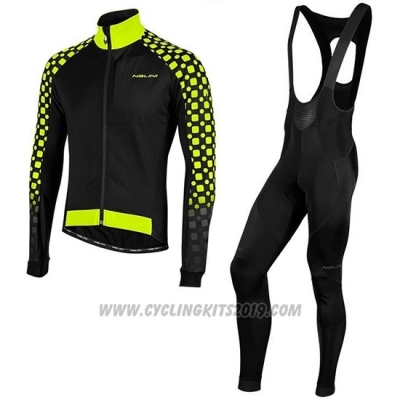 2019 Cycling Jersey Nalini CRIT 3l 2.0 Black Yellow Long Sleeve and Bib Tight