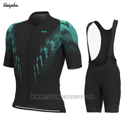2019 Cycling Jersey Rapha Black Green Short Sleeve and Bib Short
