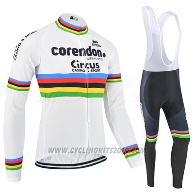 2019 Cycling Jersey UCI World Champion Corendon Circus Long Sleeve and Bib Tight