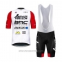 2020 Cycling Jersey BMC Absolute Absalon White Red Short Sleeve and Bib Short