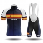 2020 Cycling Jersey Champion Spain Blue Yellow Short Sleeve and Bib Short