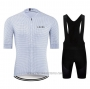 2020 Cycling Jersey Le Col White Short Sleeve and Bib Short
