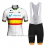 2020 Cycling Jersey Movistar Champion Spain Short Sleeve and Bib Short