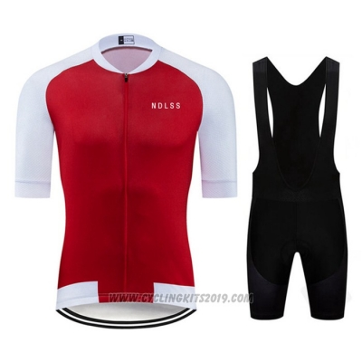 2020 Cycling Jersey Ndlss White Red Short Sleeve and Bib Short