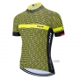 2020 Cycling Jersey Northwave Yellow Black White Short Sleeve and Bib Short