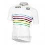 2020 Cycling Jersey UCI White Multicolore Short Sleeve and Bib Short
