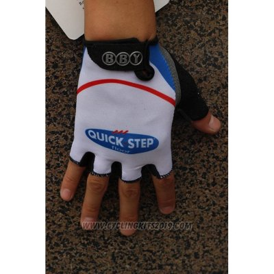 2020 Quick Step Gloves Cycling White