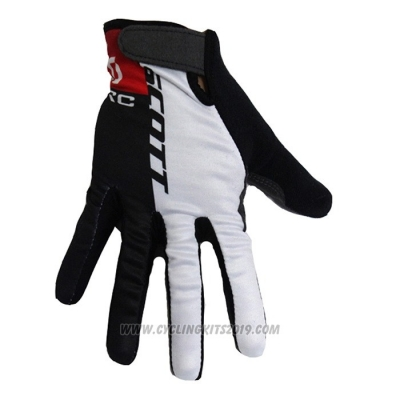 2020 Scott Full Finger Gloves Black White