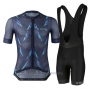 2021 Cycling Jersey Le Col Dark Blue Short Sleeve and Bib Short