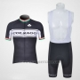 2011 Cycling Jersey Colnago White and Black Short Sleeve and Bib Short