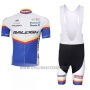 2012 Cycling Jersey Raleigh Blue and White Short Sleeve Bib Short