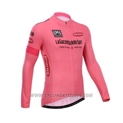 2014 Cycling Jersey Giro D'italy Pink Long Sleeve and Bib Tight