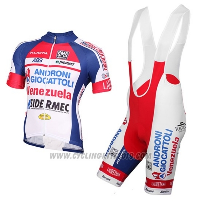 2015 Cycling Jersey Androni Giocattoli White Short Sleeve and Bib Short