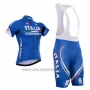 2015 Cycling Jersey Castelli Italy Blue Short Sleeve and Bib Short