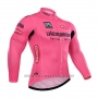 2015 Cycling Jersey Giro D'italy Pink Long Sleeve and Bib Tight