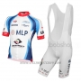 2015 Cycling Jersey MLP Team Bergstrasse White and Blue Short Sleeve and Bib Short