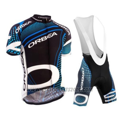 2015 Cycling Jersey Orbea Black and Blue Short Sleeve and Bib Short