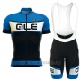 2016 Cycling Jersey ALE Black and Blue Short Sleeve and Bib Short