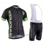 2016 Cycling Jersey Cannondale Green and Black Short Sleeve and Bib Short