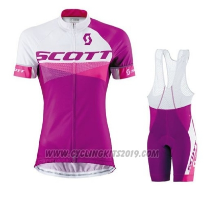 2016 Cycling Jersey Scott Red White Short Sleeve and Bib Short