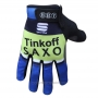 2016 Saxo Bank Tinkoff Full Finger Gloves Cycling Blue