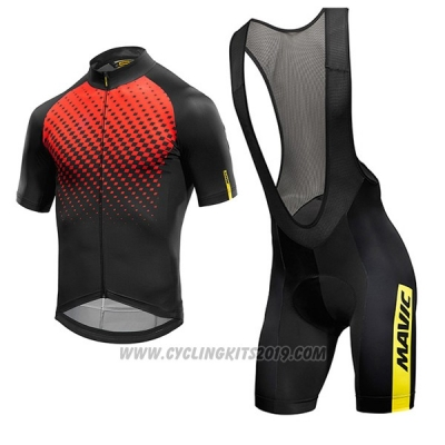2017 Cycling Jersey Mavic Red and Black Short Sleeve and Bib Short