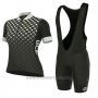 2017 Cycling Jersey Women ALE Excel Bolas Black and White Short Sleeve and Bib Short