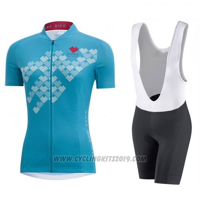 2017 Cycling Jersey Women Gore Element Digi Cereste Short Sleeve and Bib Short