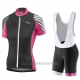 2017 Cycling Jersey Women Liv Pro Black and Red Short Sleeve and Bib Short