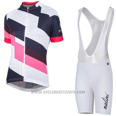 2017 Cycling Jersey Women Nalini Stripe Pink and Black Short Sleeve and Bib Short