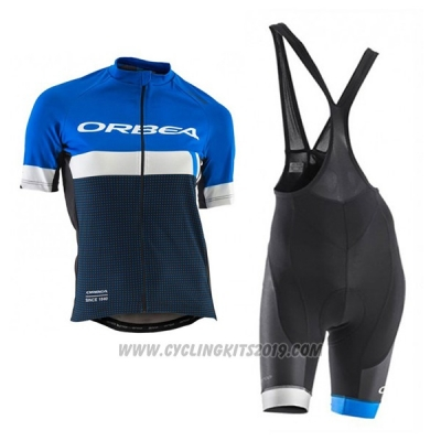 2017 Cycling Jersey Women Orbea Black and Blue Short Sleeve and Bib Short