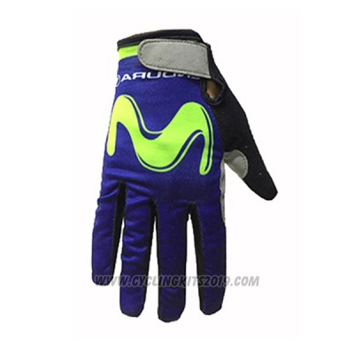 2017 Movistar Full Finger Gloves Cycling
