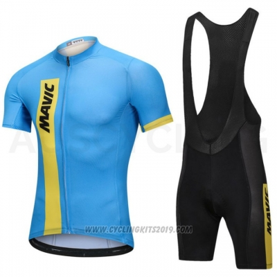 2018 Cycling Jersey Mavic Blue Short Sleeve and Bib Short