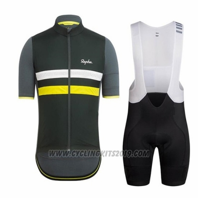 2018 Cycling Jersey Ralph Black and Yellow Short Sleeve and Bib Short