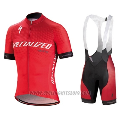 2018 Cycling Jersey Specialized Red White Black Short Sleeve and Bib Short