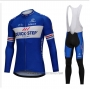 2018 Cycling Jersey UCI Mondo Campione Quick Step Floors Blue Long Sleeve and Bib Tight