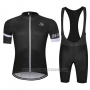 2019 Cycling Jersey Chomir Black Short Sleeve and Bib Short