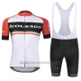 2019 Cycling Jersey Colnago White Red Short Sleeve and Bib Short
