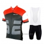 2019 Cycling Jersey Nalini Red Black Short Sleeve and Bib Short