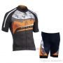 2019 Cycling Jersey Northwave Silver Orange Black Short Sleeve and Bib Short