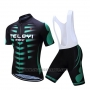 2019 Cycling Jersey Teleyi Bike Green Black Short Sleeve and Bib Short