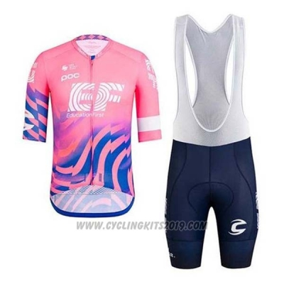 2020 Cycling Jersey EF Education First Pink Short Sleeve and Bib Short