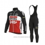 2020 Cycling Jersey Lotto Soudal Black White Red Long Sleeve and Bib Tight